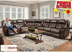 Abilene POWER reclining sectional - espresso