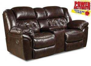 Abilene POWER reclining loveseat - espresso