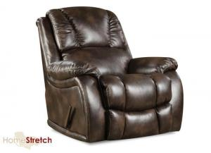 Randolph rocker recliner - chocolate