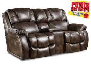 Randolph POWER loveseat - chocolate