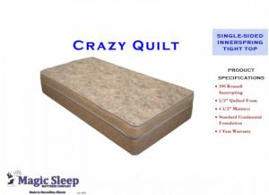 Crazy Quilt Spring Full Mattress,In-Store