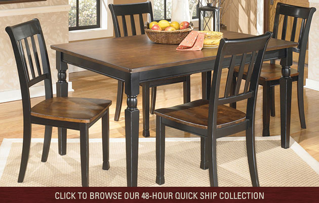 Owingsville Rectangular Dining Room Table w/ 4 Side Chairs