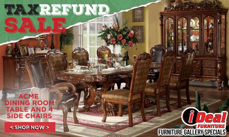 Acme Dining Room Table & 4 Side Chairs