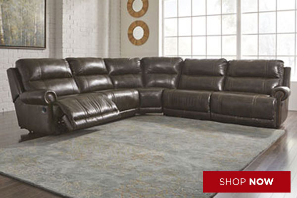 Dak DuraBlend Antique Left Facing Sectional w/ Right Facing Wall Recliner