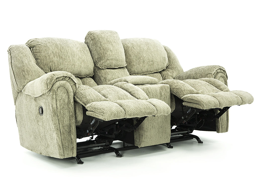 BAXTER GRANITE RECLINING LOVESEAT WITH CONSOLE,HSTR