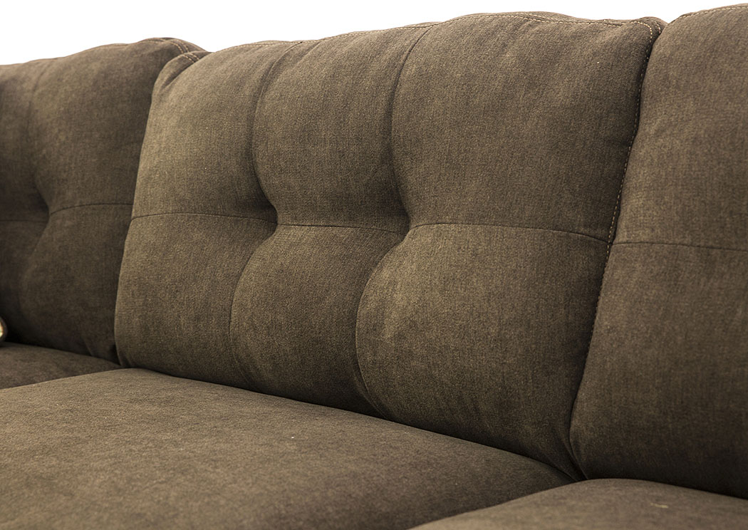 DELTA CITY CHOCOLATE ARMLESS LOVESEAT,ASHL