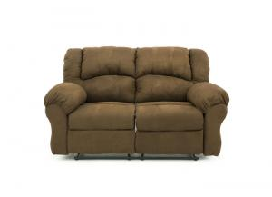 JACE ARUBA CHOCOLATE RECLINING LOVESEAT