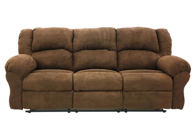 JACE ARUBA CHOCOLATE RECLINING SOFA