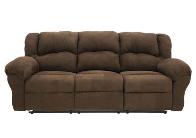 JACE ARUBA CHOCOLATE POWER RECLINING SOFA