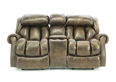 RYKER ESPRESSO RECLINING LOVESEAT WITH CONSOLE