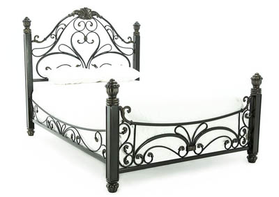 DIANA ANTIQUED BRONZE KING BED
