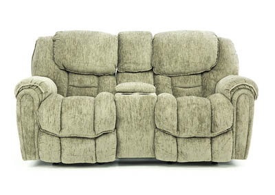 BAXTER GRANITE RECLINING LOVESEAT WITH CONSOLE