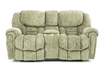 BAXTER GRANITE POWER RECLINING LOVESEAT WITH CONSOLE