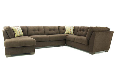 DELTA CITY CHOCOLATE ARMLESS LOVESEAT