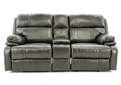 ALEXANDER BROWN POWER LOVESEAT WITH CONSOLE AND GLIDERS