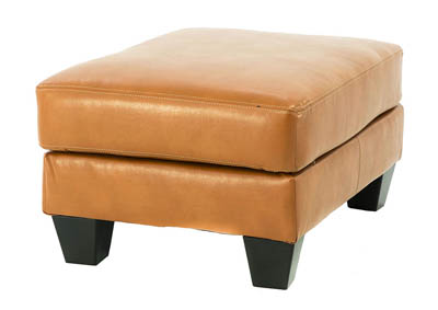 PAULIE ORANGE OTTOMAN