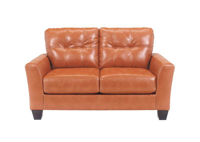 PAULIE ORANGE LOVESEAT