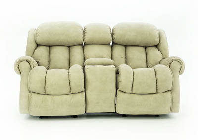 RYKER STONE RECLINING LOVESEAT WITH CONSOLE