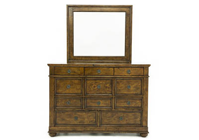 SOUTHERN PINES DRESSER AND MIRROR SET