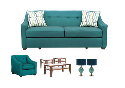 PEACOCK LIVING ROOM SET