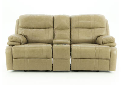 ALEXANDER TAUPE POWER LOVESEAT W/CONSOLE
