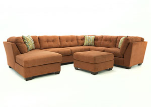 DELTA CITY RUST 3PC SECTIONAL