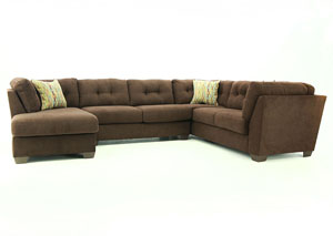 DELTA CITY CHOCOLATE 3PC SECTIONAL