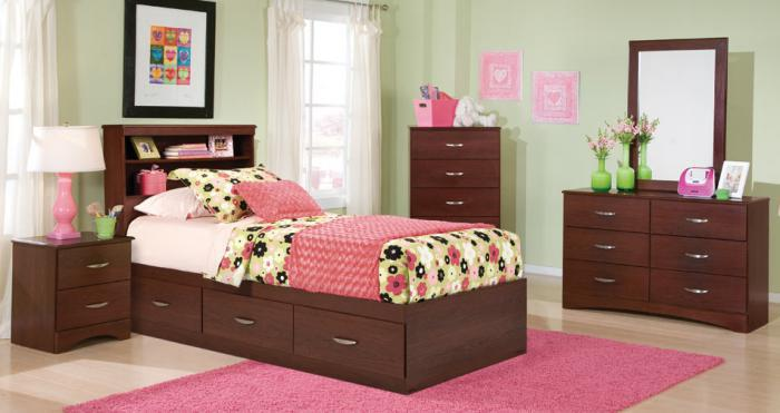 Briar 3 Drawer Mates Bed with Twin Bookcase Headboard,Kith