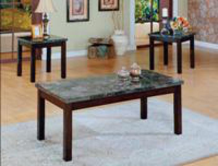 Onyx Coaktail and 2 End Tables Set,Crown Mark