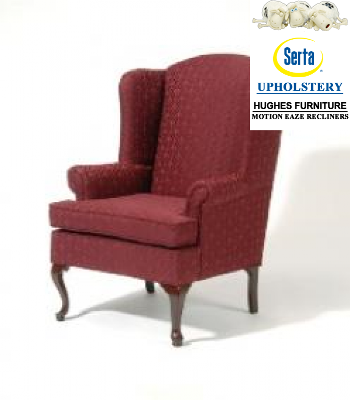 Wing Back Chair,Hughes Furniture