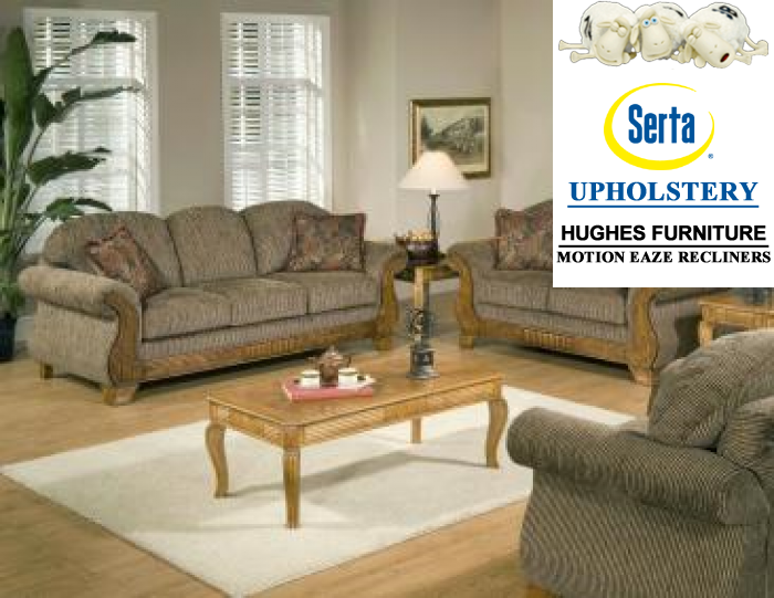Torry Tomato Sofa & Loveseat,Hughes Furniture