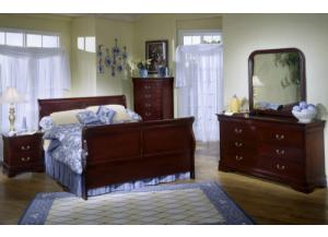 Cherry Dresser & Mirror,Oakwood