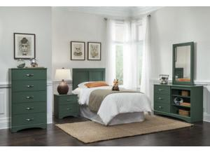 Color Splash/Olive Twin Headboard & Frame,Kith