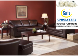 Bomber Chocolate Sofa & Loveseat,Hughes Furniture