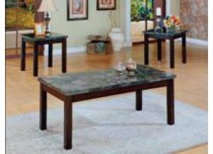 Onyx Coaktail and 2 End Tables Set