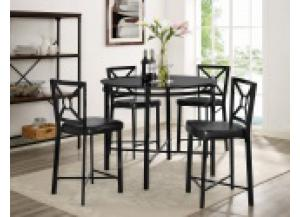Diamond Black Round Counter Height Dining Set,Jeff's Promos