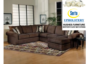 Sectional- Sidekick Fudge,Hughes Furniture