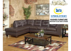 San Marino Chocolate Sectional,Hughes Furniture