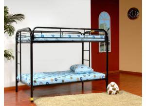 Metal Twin/ Twin Bunk Bed (Blue)