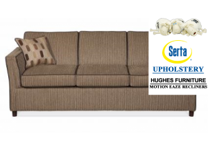 Innovate Brass/Bloomsbury Pecan Sofa & Loveseat,Hughes Furniture