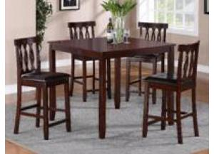 Soledad 5 Piece Counter Height Set,Crown Mark