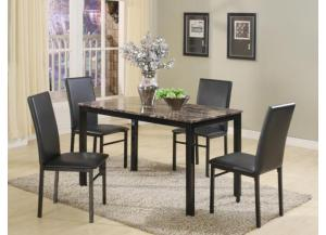 Aiden Rectangle Table W/ 4 Chairs,Crown Mark