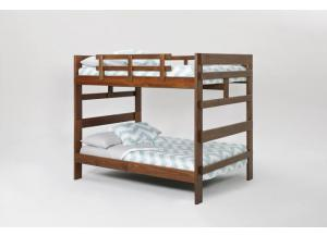 The Heartland Full/Full Split Bunk Bed with Center Support,Woodcrest