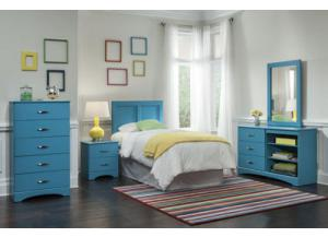 Color Splash/Turquoise Twin Headboard & Frame, Dresser, Mirror, Chest, Nightstand