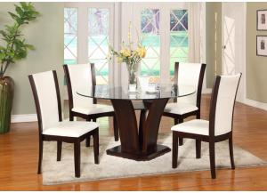 Camelia 5 Piece Glass Dining Set ,Crown Mark