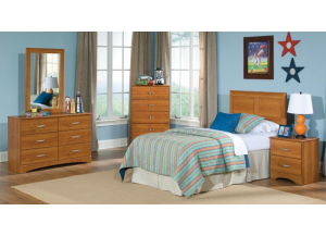 Tanner Full/Queen Panel Bed, Frame, Dresser, Mirror, Chest, Nightstand,Kith