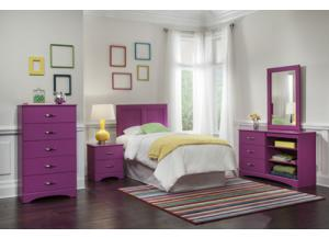 Color Splash/Rasberry Twin Headboard & Frame,Kith