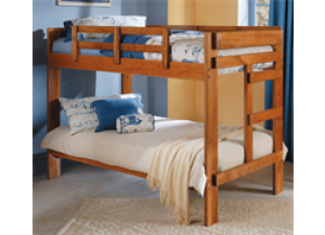 The Heartland 2 x 6 Twin/Twin Bunk Bed,Woodcrest