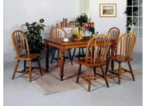 Farmhouse Rectangle Table W/ 4 Hoop Back Chairs & 1 Bench,Crown Mark