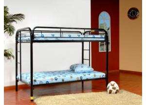 Twin/ Twin Metal Bunk Bed (White)
